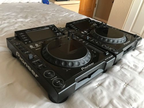 X2 Pioneer CDJ-2000 Professional Multi Player DJ Turntable Black-Cables Included - Copy