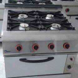 cocina de 4 fuegos de hornos