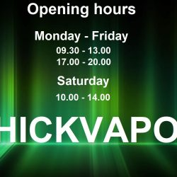 Thickvapor Opening hours from 18 mars 2019