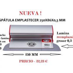 250X0.3 Espátula de aluminio con sistema cambio de cuchillo, 1500X86X0,3 MM